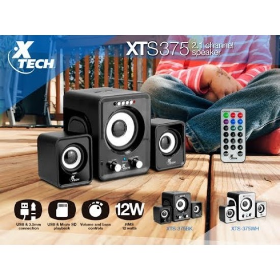 Xtech XTS375BK - Speakers - Wired